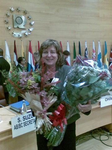Fotografia zo zasadnutia Správnej Rady OHIM-u - poďakovanie D. Kyliánovej
