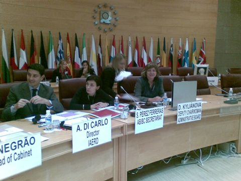 Fotografia zo zasadnutia Správnej Rady OHIM-u, ktorú viedla D. Kyliánová